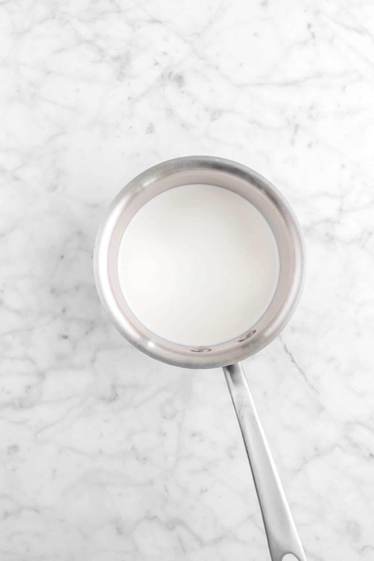 cream in small pot