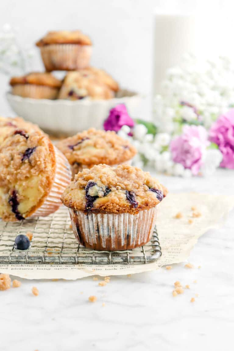 Better Than a Bakery Lemon Blueberry Muffins with Cinnamon Streusel