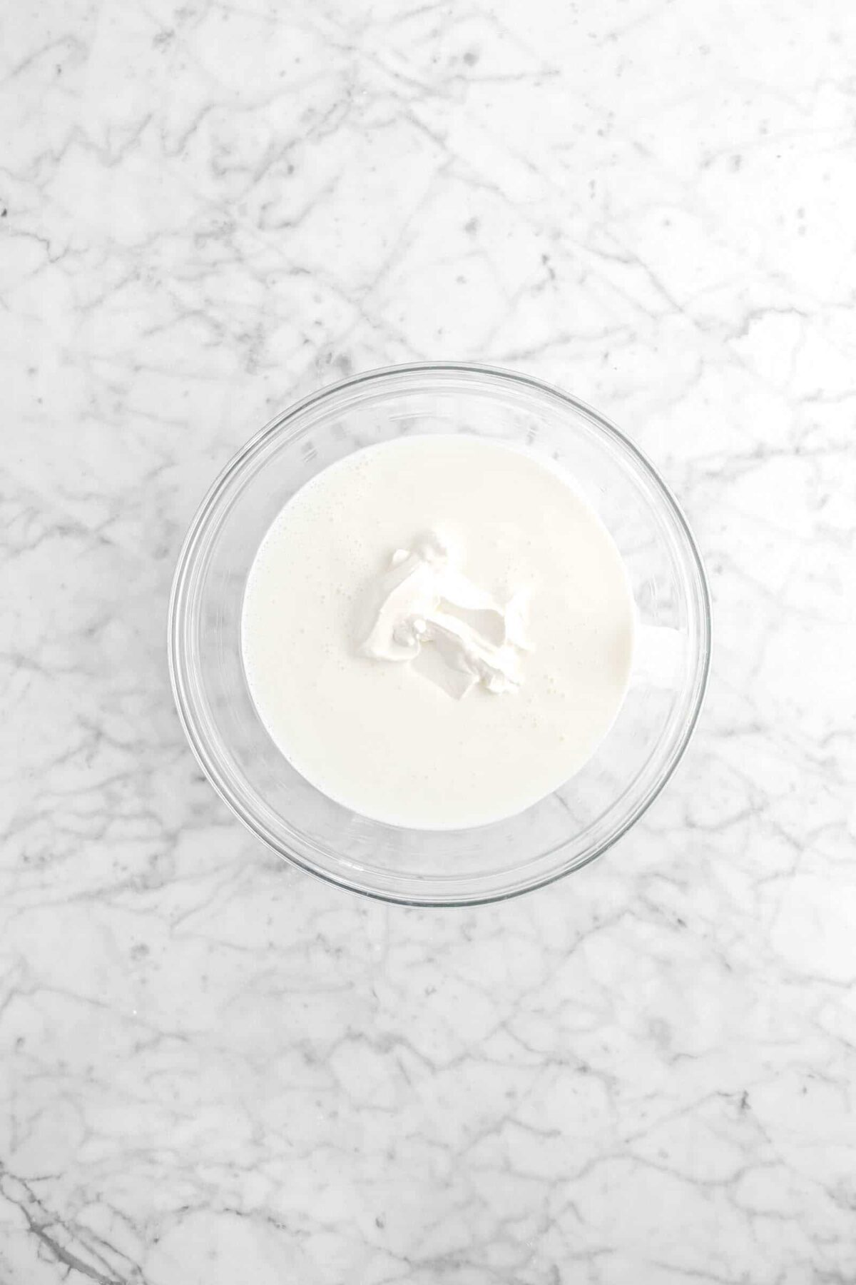 buttermilk and sour cream in a glass bowl