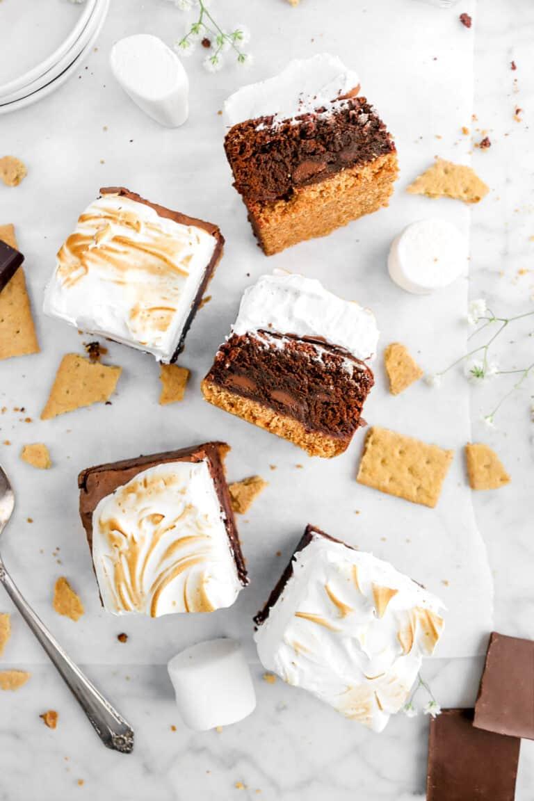 Triple Chocolate S'mores Brownies