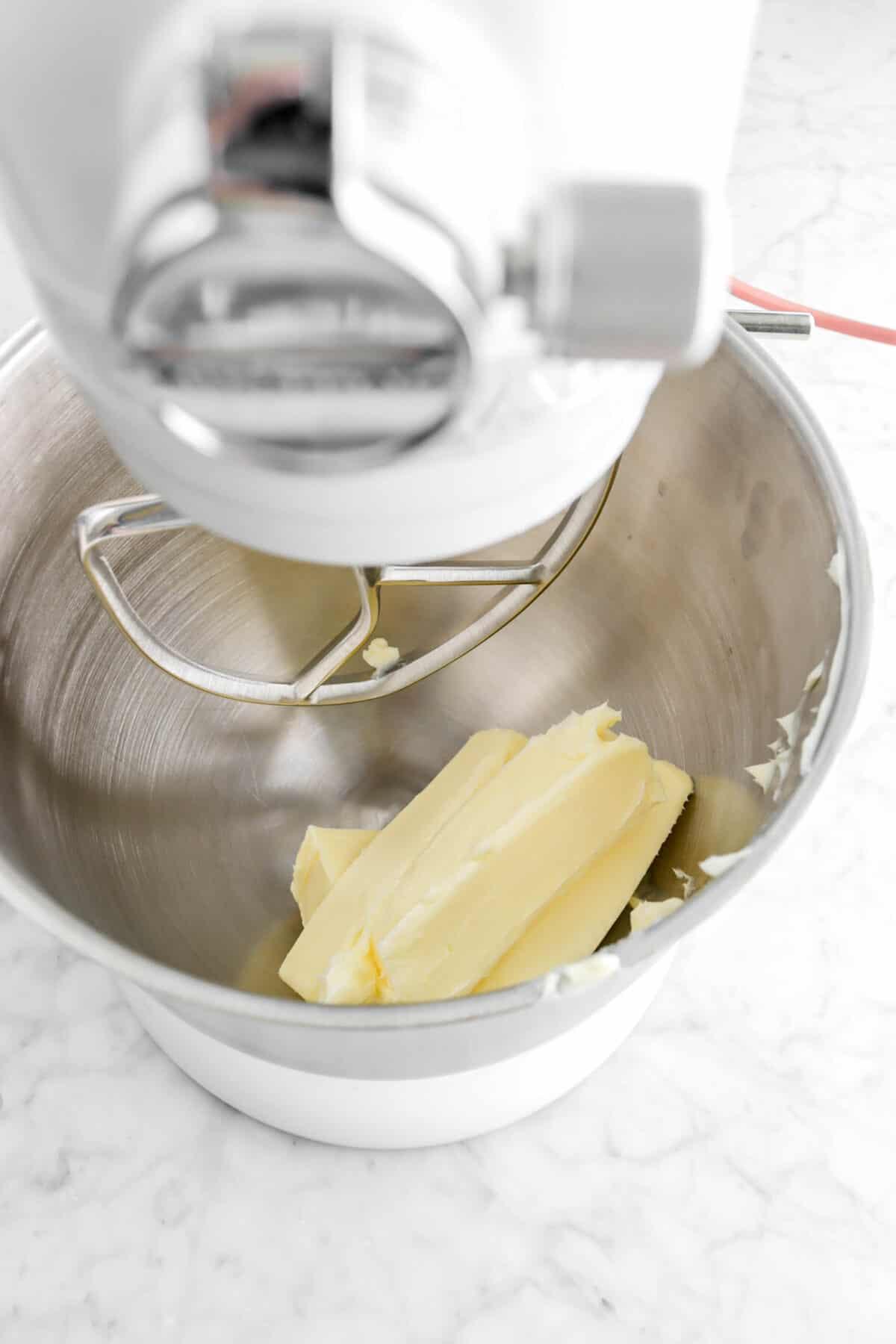 butter in mixer
