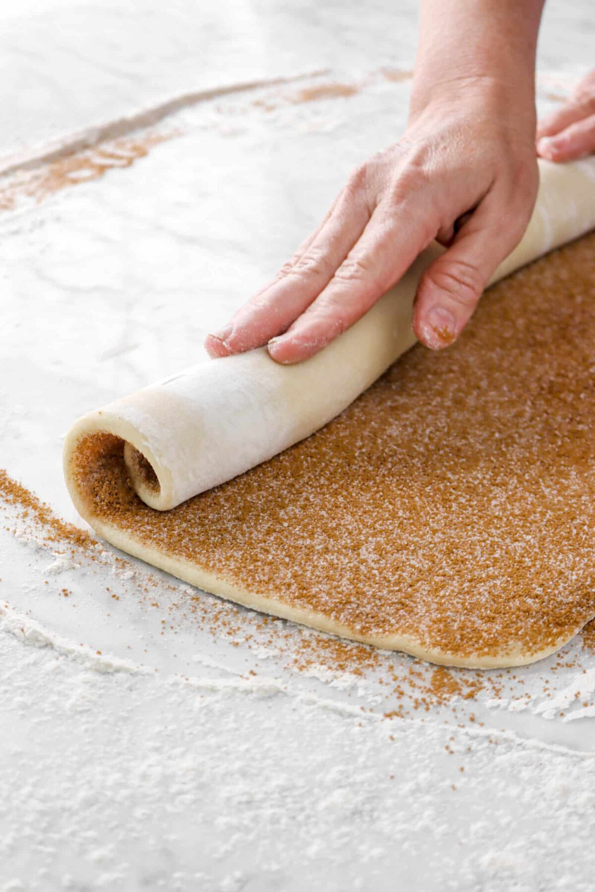 dough being rolled