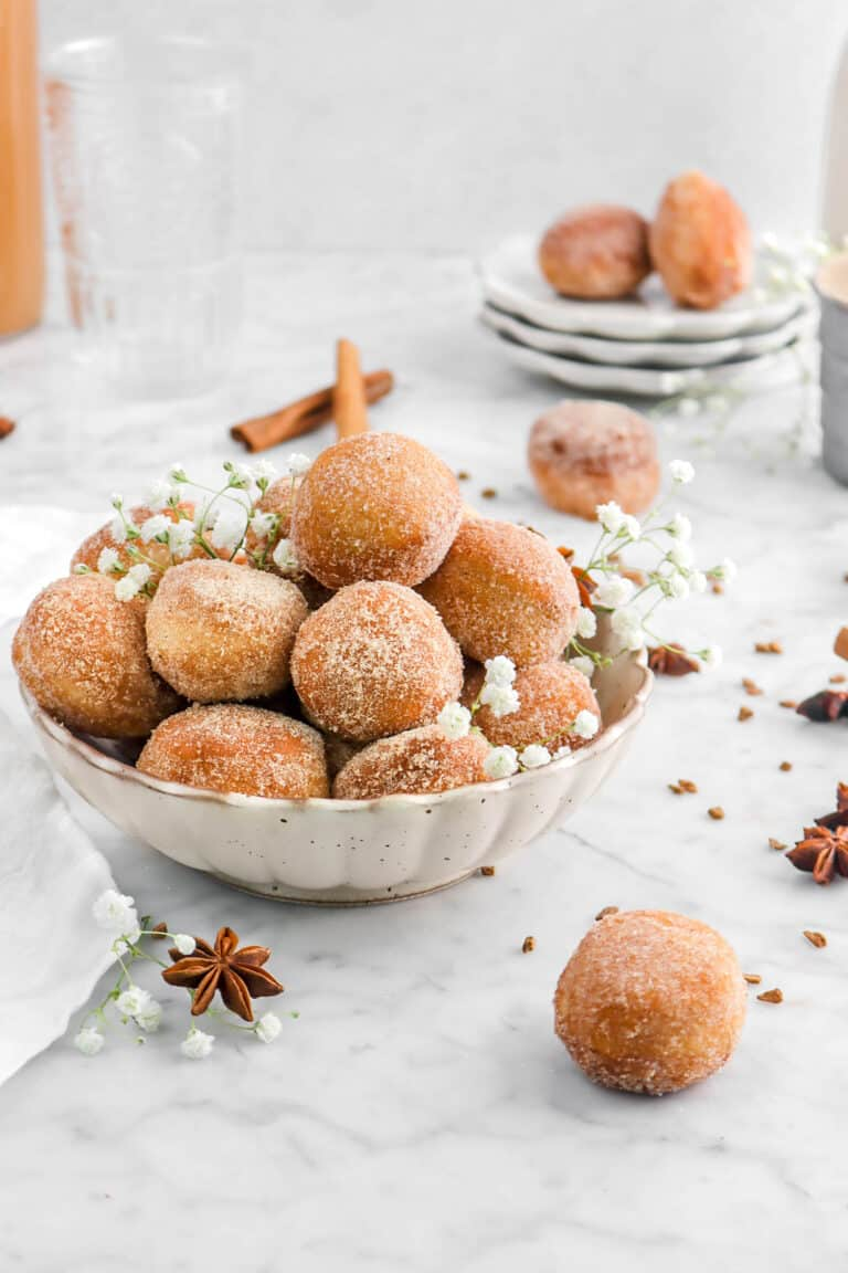 Apple Cider Donut Holes with Spiced Sugar
