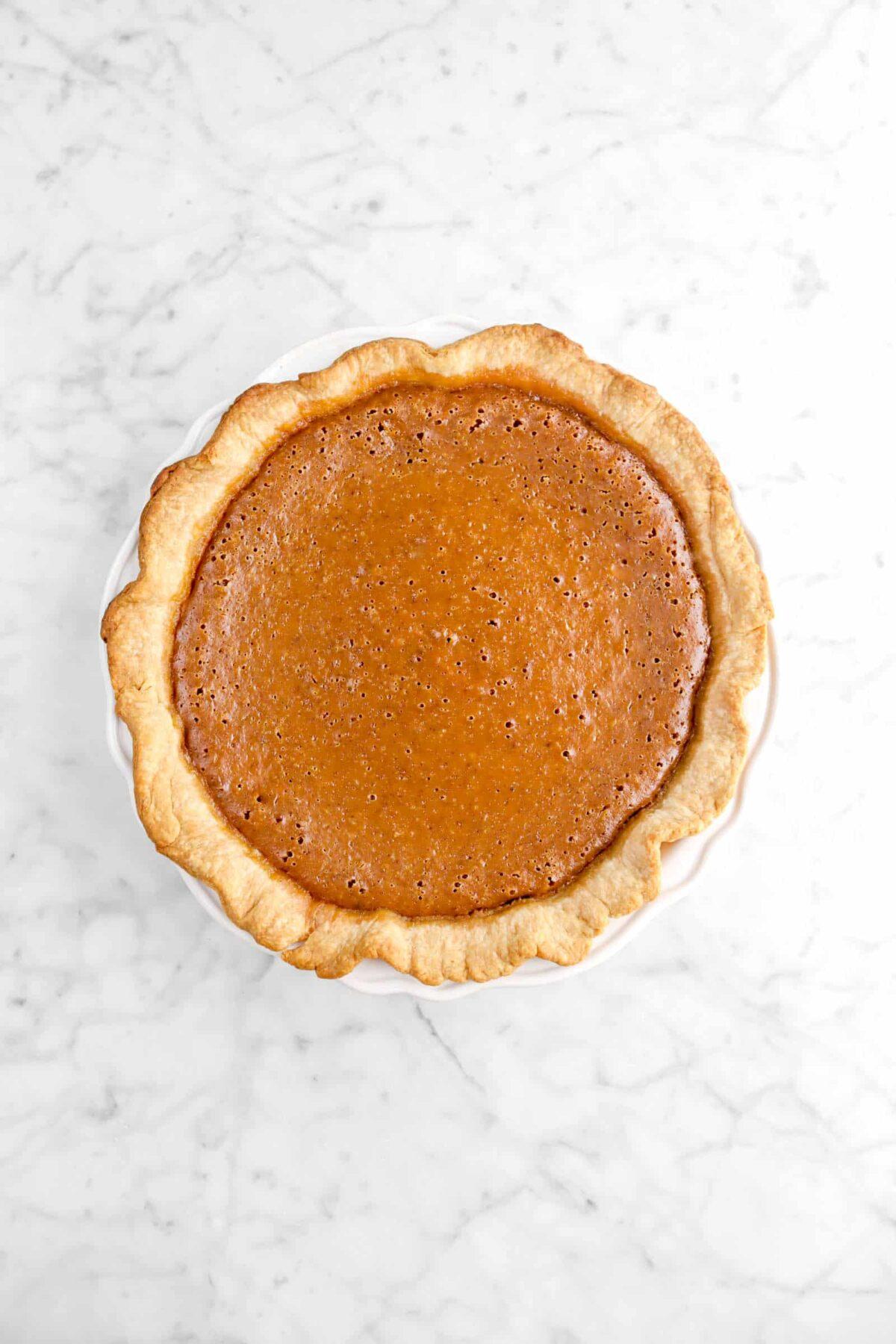 baked pumpkin pie